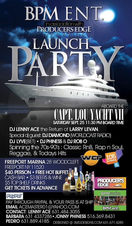 BPM Ent. Launch Party aboard the Capt. Lou VII Yacht