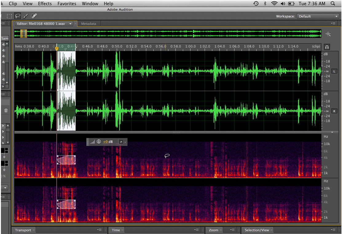 how to change audio output in adobe audition