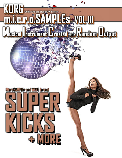 artwork for KORG microSAMPLES Volume III: Super Kicks + More