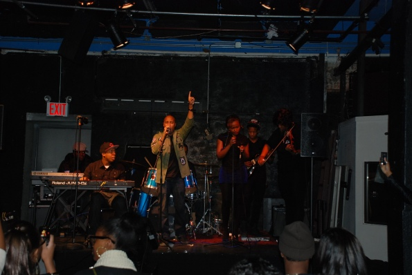 D.A. The Future performs at a Battle of the Bands in Long Island City New York