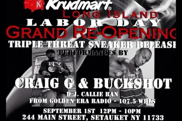 Flyer for Krudmart Grand ReOpening